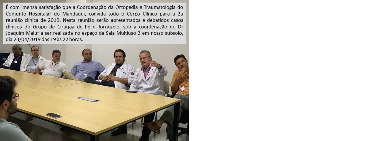 Reunião Clínica da Ortopedia e Traumatologia