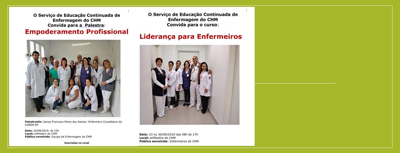 Serviço de Educação Continuada de Enfermagem convida: